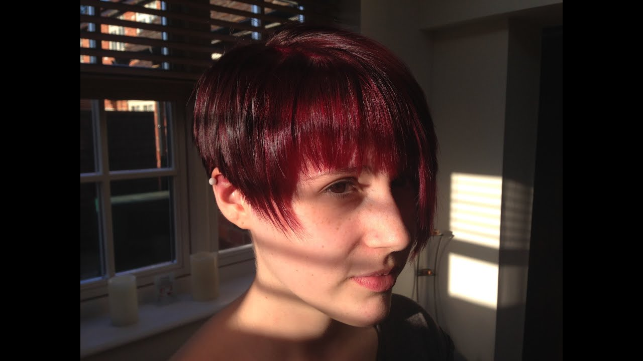 Application Of Rubine By Directions Dark Red Hair Colour