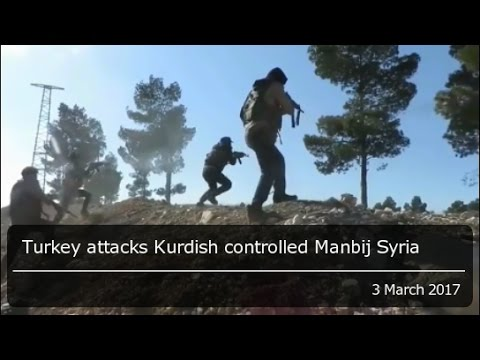 Turkey attacks YPG Kurds in the outskirts Manbij, even as US soldiers set up a base in Manbij