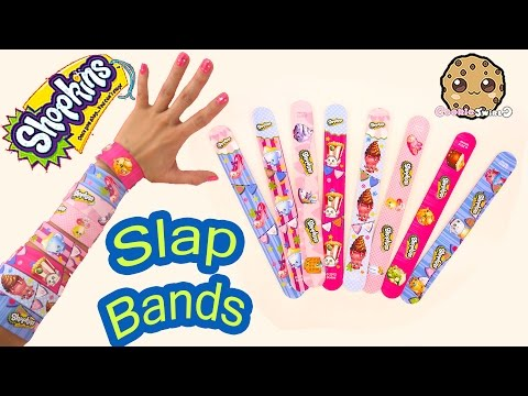 Lippy Lips Plush + 8 Shopkins Season 2 Video Toy Slap Bands Bracelets Unboxing Video - Cookieswirlc