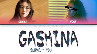 SUNMI(선미) – GASHINA (2 Members ver.) + YOU as a member [Color Coded Han|Rom|Eng]
