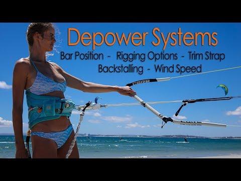 kitesurf-depower-systems-(bar,-trim-strap,-rigging-options,-backstalling,-wind-conditions-etc)