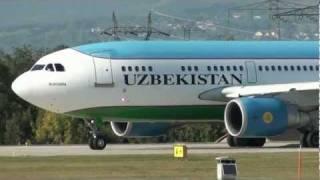 Uzbekistan Airways A310-300 take off rwy 23 at Geneva Cointrin [GVA/LSGG]