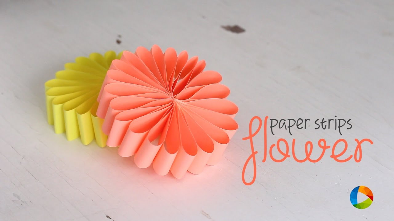 Luxury flowers made from paper strips pictures wedding and flowers diy paper strips flower youtube mightylinksfo