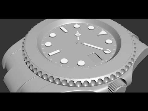 Modeling a Rolex Watch in 3Ds Max | Timelapse