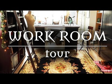 A Cosy Victorian-Inspired Sewing Workroom || Tour
