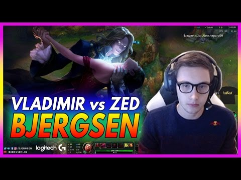 433. Bjergsen Vladimir vs Zed  Mid - March 19th, 2017 - Patch 7.5 Season 7