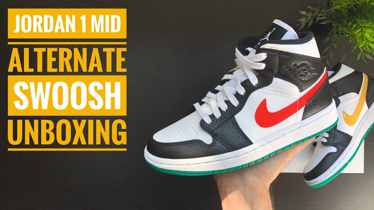 Jordan 1 Mid 'Alternate Swoosh' | Unboxing | 4K | Sneaker Therapy