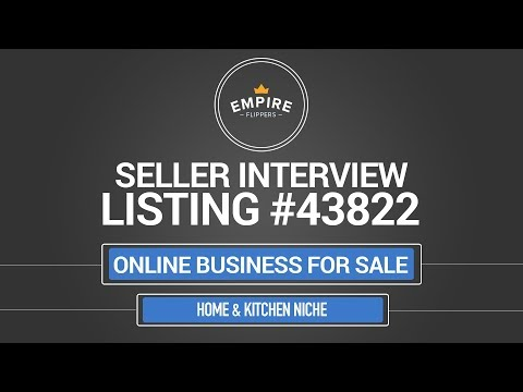 Online Business For Sale – $9.5K/month in the Home & Kitchen Niche
