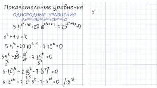 ЕГЭ 2017. Решение показательных уравнений. Однородное показательное уравнение