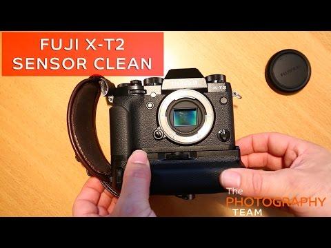 Cleaning the sensor on a brand new Fuji X-T2 ( XT2 )