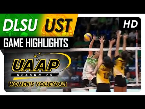 DLSU vs UST | Game Highlights | UAAP 79 WV | March 29, 2017