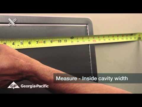 Georgia-Pacific Recessed Dispenser - Measure for Installation