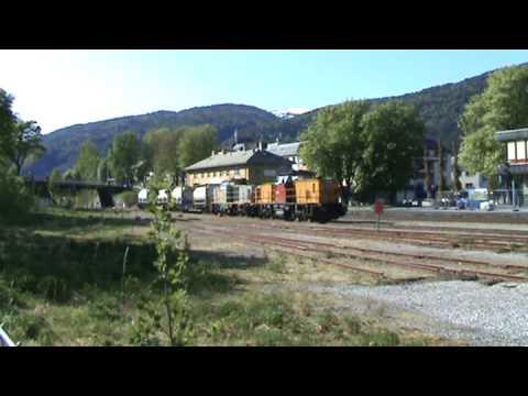 Cargonet over spor 3 på Åndalsnes stasjon 8.mai 09