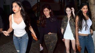 Shahrukh Khan's HOT Daughter Suhana Khan With Ananya Pandey And Shanaya Kapoor On Movie Date