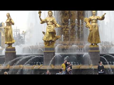 Fountains at All-Russia Exhibition Centre (VVC/VDNKh) Moscow