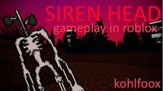 Siren Head//ROBLOX//jogabilidade