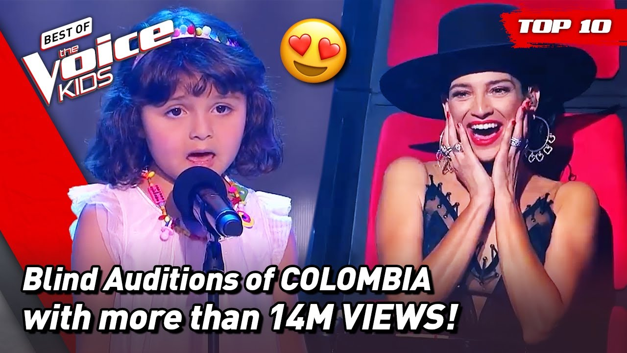 The MOST VIEWED Blind Auditions of The Voice Kids COLOMBIA 2021! 🥰   Top 10
