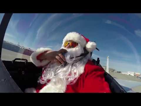 Santa Shares Flight Experience with NASA