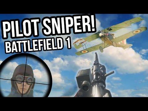 BATTLEFIELD 1 PILOT 200M HEADSHOT + PLANE SNIPES | BF1 Alpha