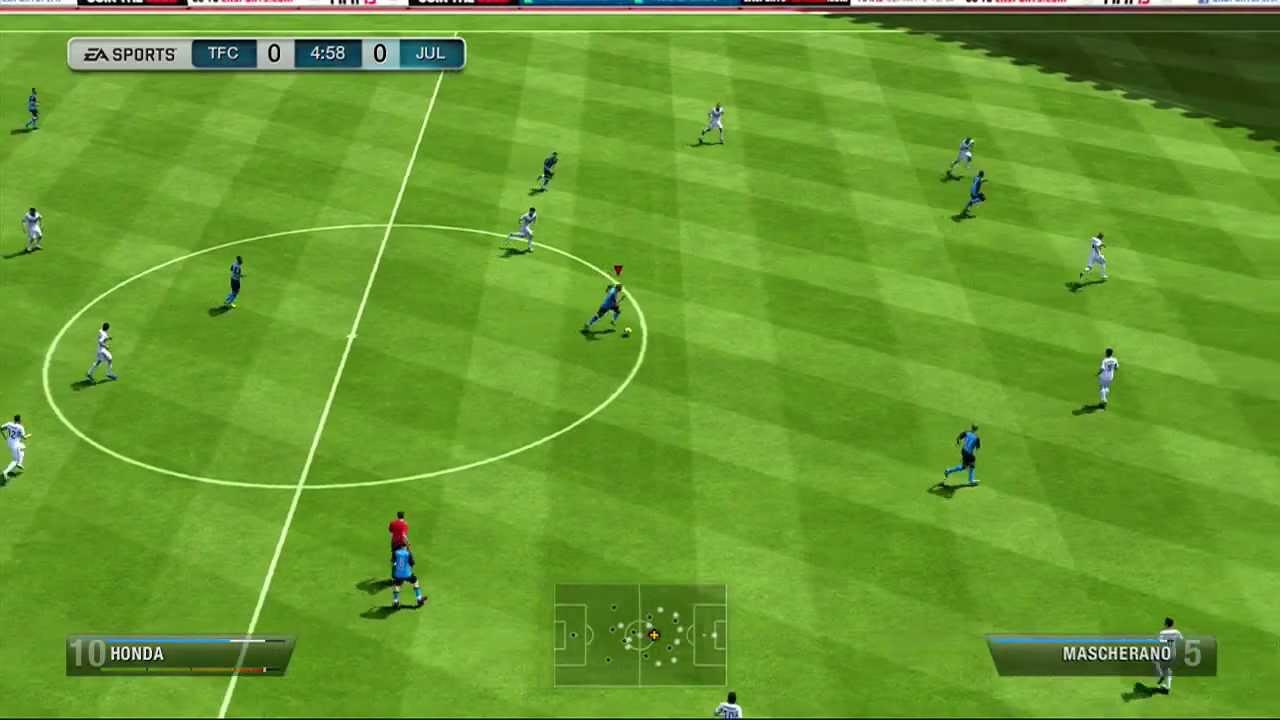 Fifa 14 Keisuke Honda >> Fifa 13 Keisuke Honda 45 Yard Snipe Hd Youtube