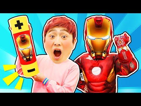 강이는 아이언맨 인형과 소꿉놀이해요! LuckyKangi play with Ironman