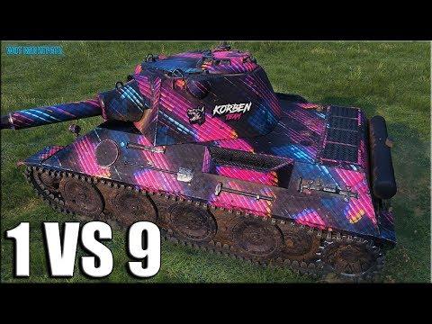 VK 30.02 (D) против ДЕВЯТЕРЫХ ✅ World Of Tanks мега Колобанов