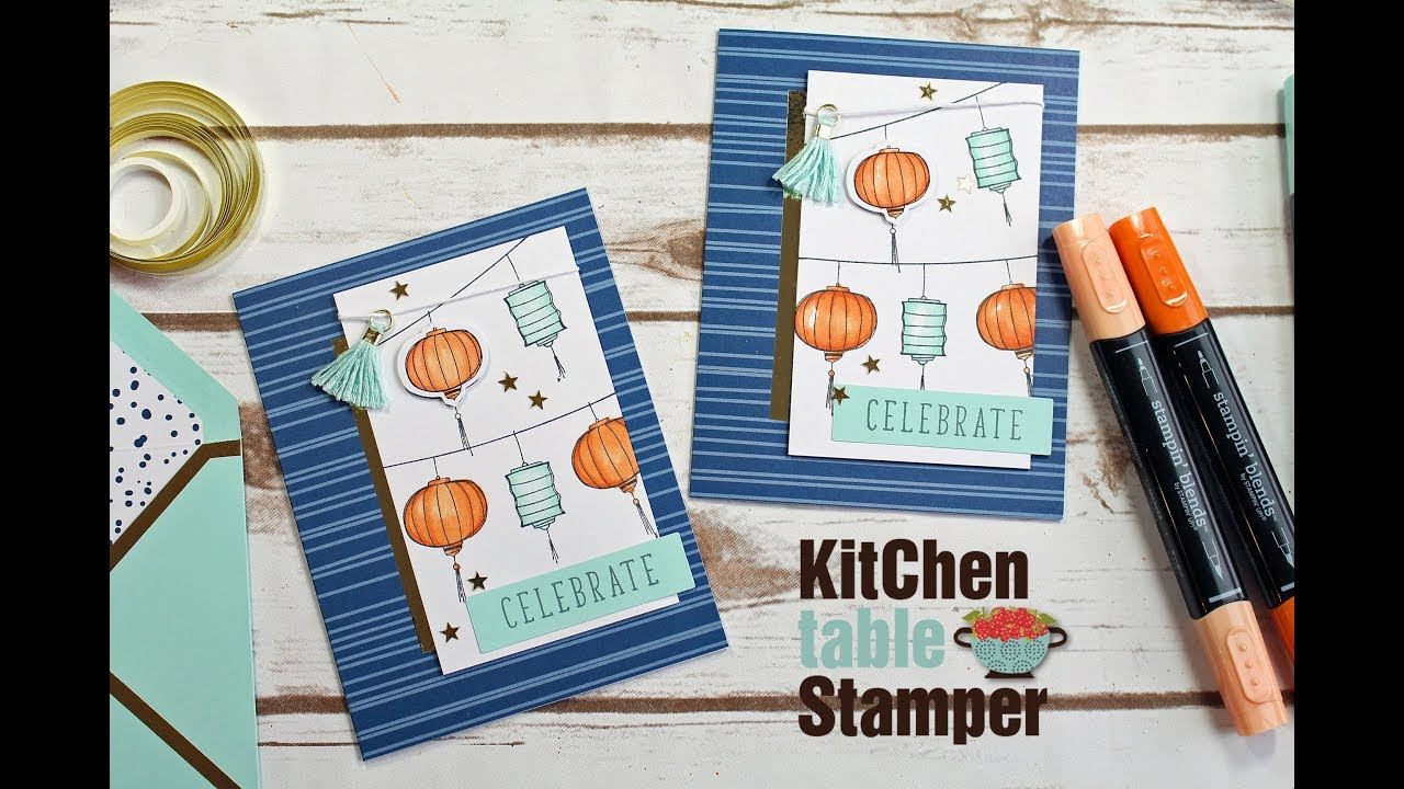 Stampin Up! Color Me Happy Project Kit - Celebrate Card with Kitchen ...