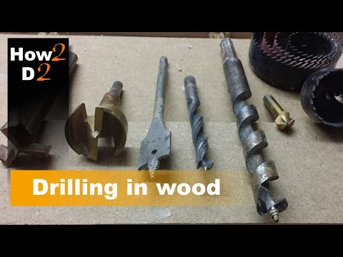 Drilling holes in wood. What drill bit to use. Drill holes in MDF, chipboard, timber, plywood.