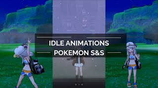 Pokemon Sword and Shield - Weather Idle Animations