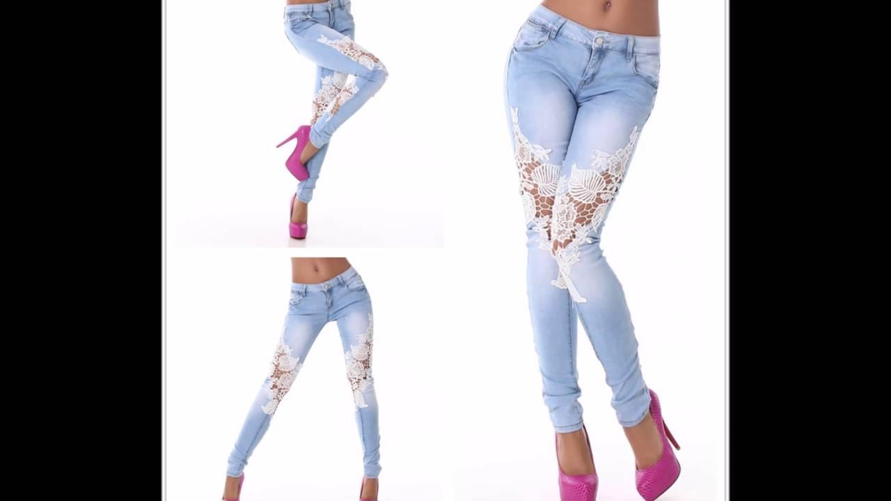 mejor precio clásico venta en línea Pantalones con encaje ♡♡