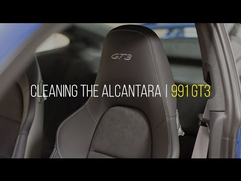 991 GT3 Interior Cleaning Series: Video 2 - Cleaning Alcantara