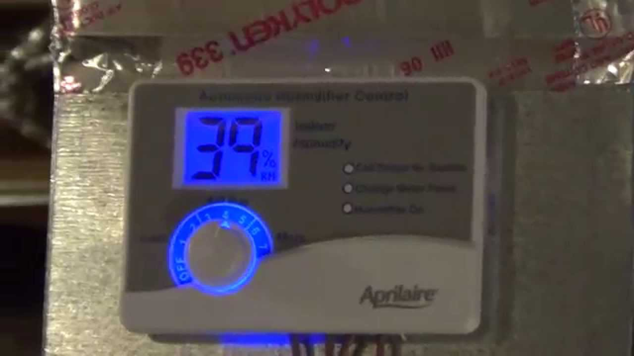 Aprilaire Change Water Panel Light Blinking Youtube Wiring 700 And Model 60 Control To Lennox Furnace
