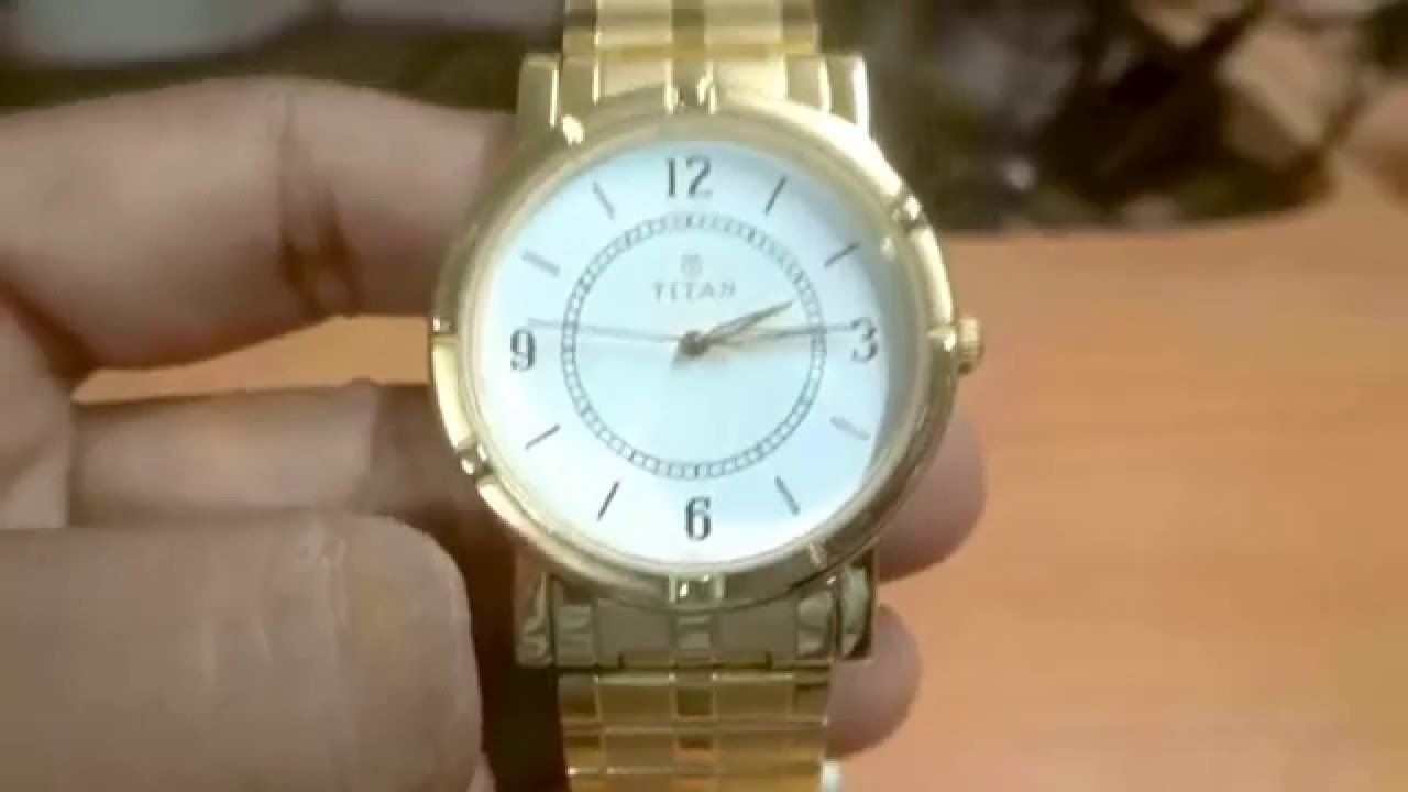 review of titan analog 1639ym03 gold plated wrist