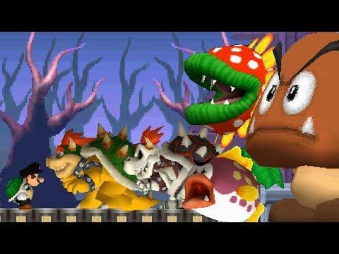 Newer Super Mario Bros DS - All Castle Bosses