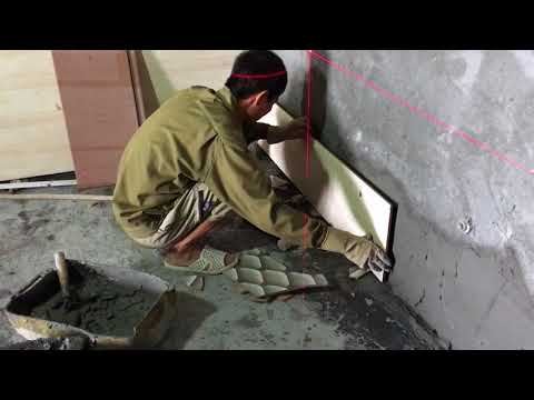 Square Angle Solution With Machine Laser Technician to Install Simple Ceramic Tiles on Wall Easily
