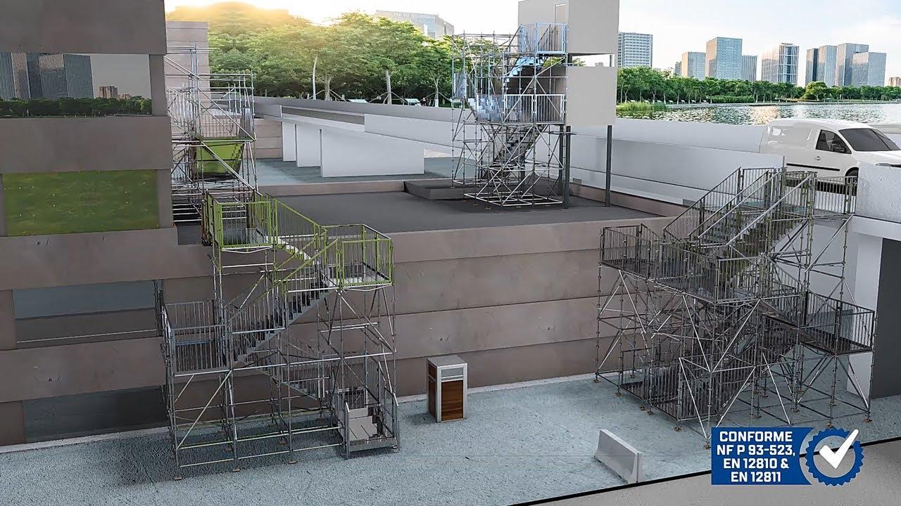 Espacement Entre Barreaux Garde Corps publistep, l'escalier public provisoire et modulaire | le