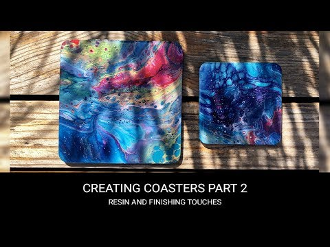 Resin coasters tutorial part 2/2 🔥🌈 Fluid/Pour/Abstract art fun!