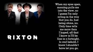 Rixton - Hotel Ceiling Lyrics
