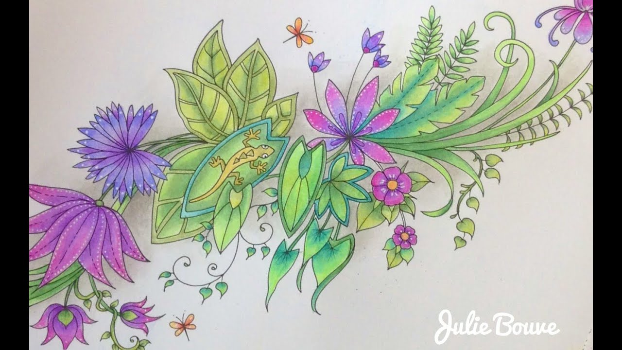 Magical Jungle Johanna Basford Coloring With Faber