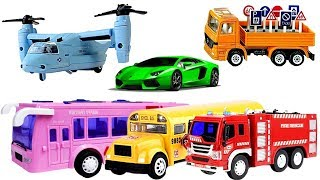 Cars for Kids Learn Colors with Toy Cars Transport Vehicles Toys for Children