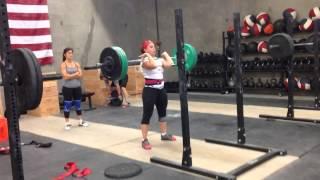 Tonia Osborne 225# front squat x 3