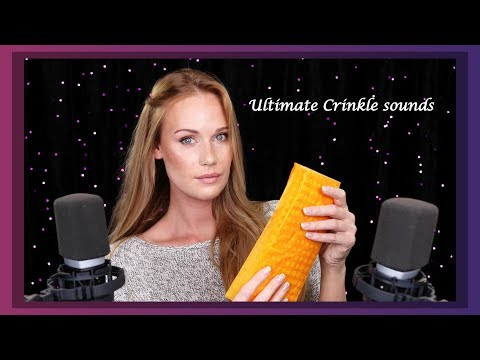 ASMR Crinkle Sounds and Soft Breathy Whispers ear to ear