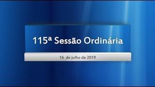 115ª Sessão Ordinária 16/07/2019