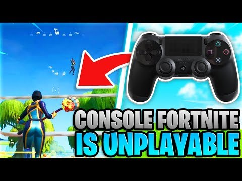 Console Fortnite Is UNPLAYABLE... (PS4 + Xbox Fortnite)