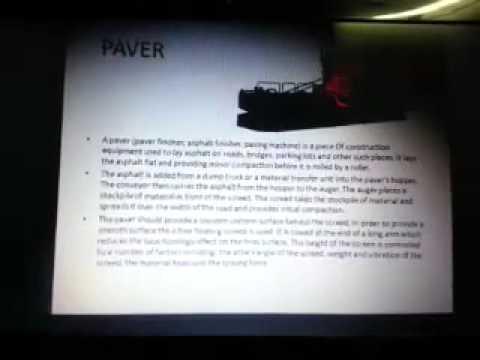 SANY internship presentation - Road Construction Machinery