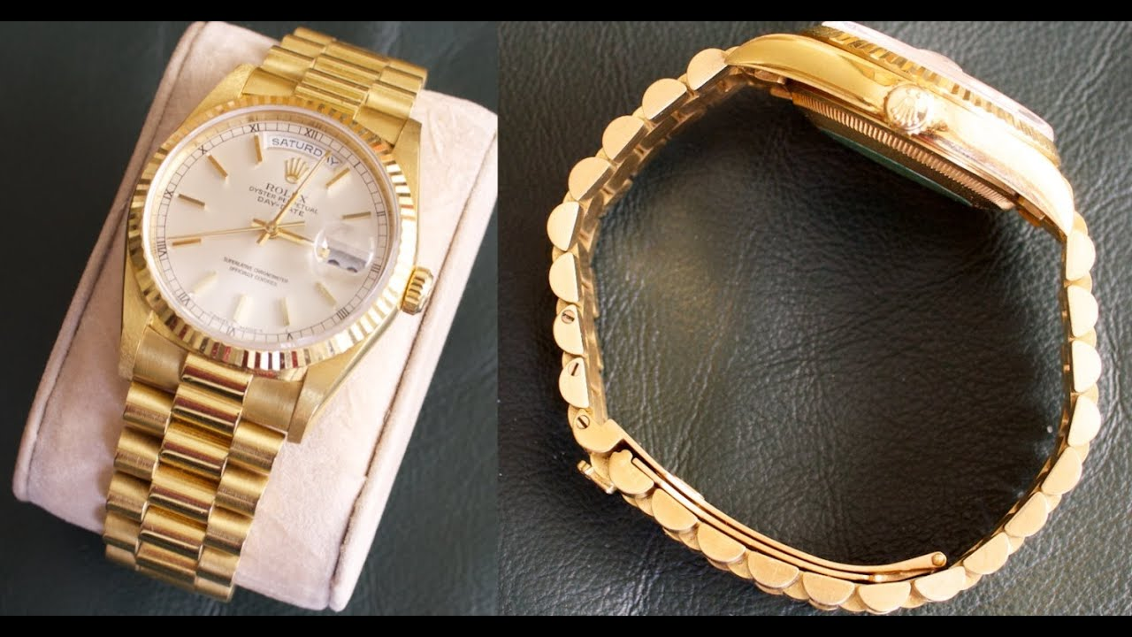 f78a775508c Rolex DAY-DATE with President bracelet - Watch Perfection! - YouTube