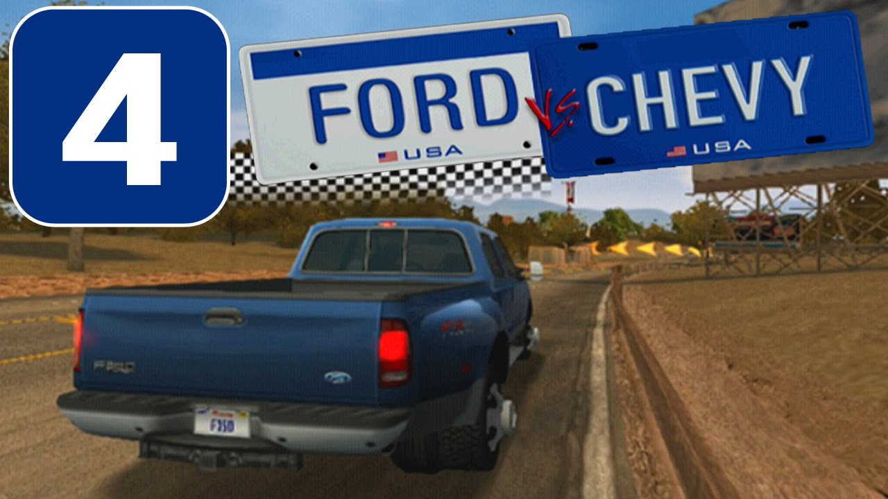 Ford vs. Chevy [HD][PS2] - Stage #4 - Trucks Challenge - YouTube