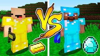 MINECRAFT - NOOB VS PRO: GOLD or DIAMOND BATTLE in Minecraft