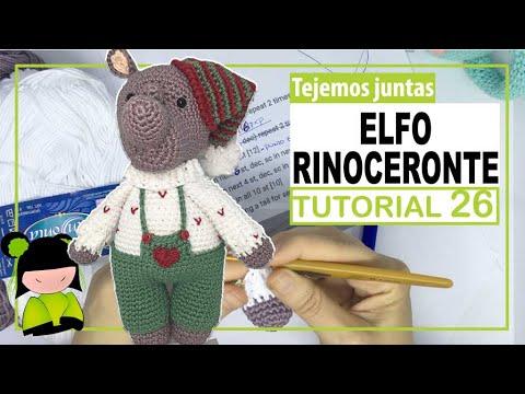 VIDEO FINAL DE PROYECTO! video de ESTRENO!!! 🎅🏻 +🦏 = ELFO NAVIDEÑO RINOCERONTE AMIGURUMI 📅 26 📅