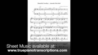 Beautiful Goodbye - Amanda Marshall - Piano